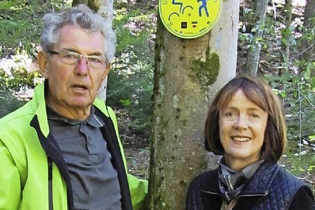 Wald für Radler und Wanderer