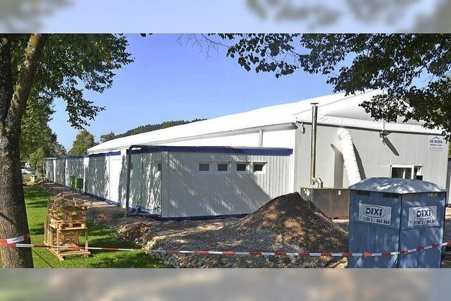 In Haltingen sollen 200 Menschen in Zelten unterkommen