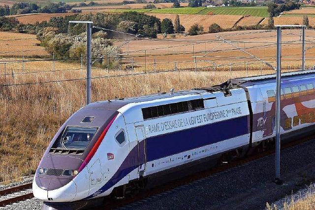 Neue TGV-Strecke: Straßburg-Paris in 1:46 Stunden