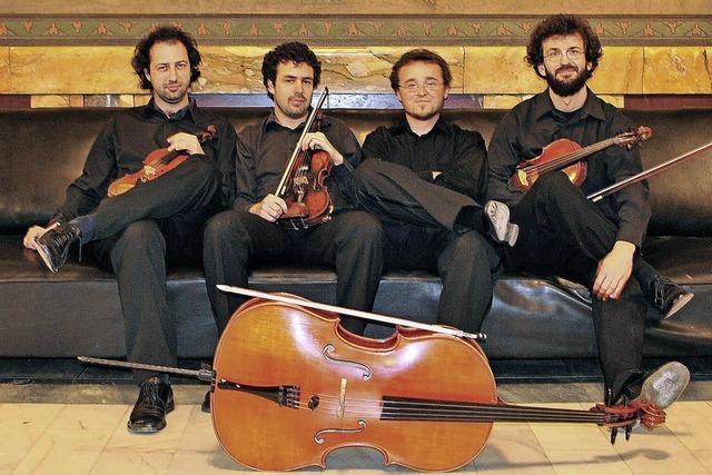 Tiberius Quartet spielt im Bagnato-Saal des Schlosses bei Rheinfelden