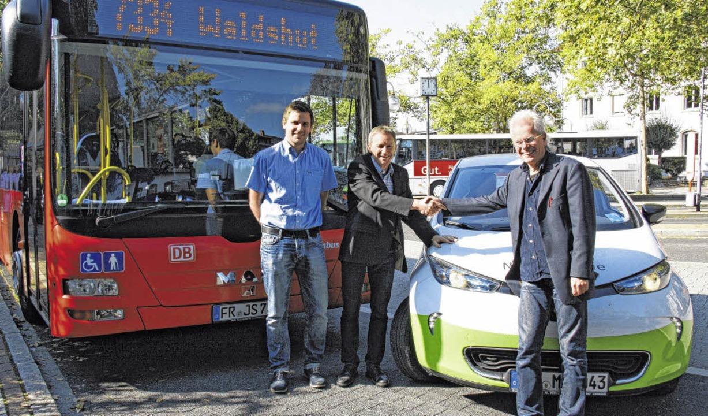 Tobias Kliemt (links), Geschäftsstelle...rtin Lübke vom Stadtmobil Carsharing.   | Foto: Susann Klatt-D'Souza