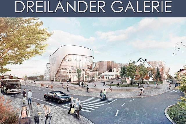 Verena und Werner Sänger sowie Albert Fuchs setzen sich für einen Bürgersaal in der Dreiländergalerie ein