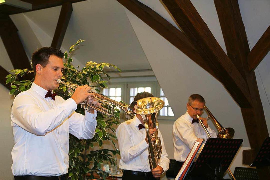 Das Bläserquartett des Musikverein Mau... sorgte für die musikalisch Umrahmung.  | Foto: Anja Bertsch