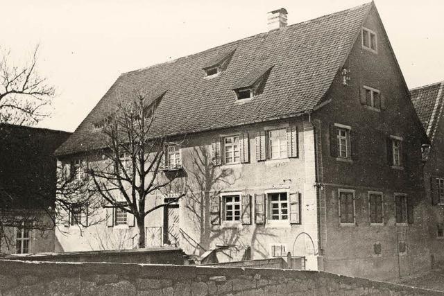 Der einstige Ochsen in Opfingen diente lange als Kindergarten - und wurde in den 1970ern abgerissen