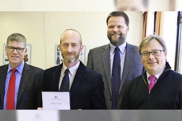 Helmar Ganz jetzt offiziell Rektor in Görwihl