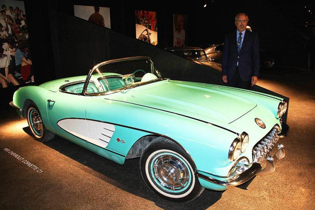 Der früherere Eigentümer der  Tennisha... Chevrolet Corvette C1 , Baujahr 1959.  | Foto: Andreas Peikert