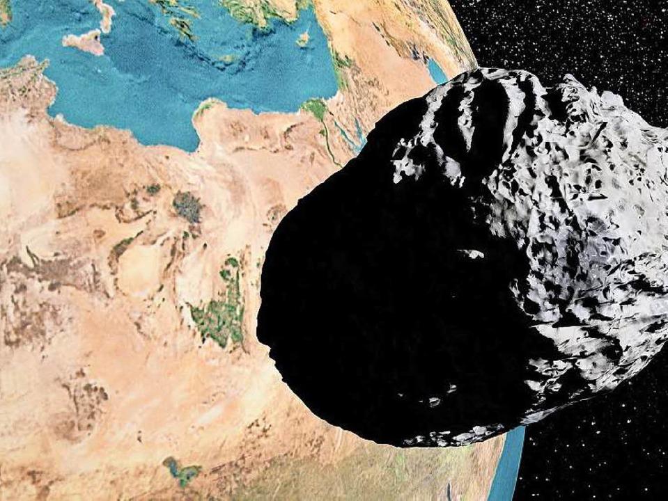 Einen Durchmesser von 2,6 Kilometern d...f den Erdboden aufschlug (Symbolbild).  | Foto: fotolia.com/Elena Duvernay