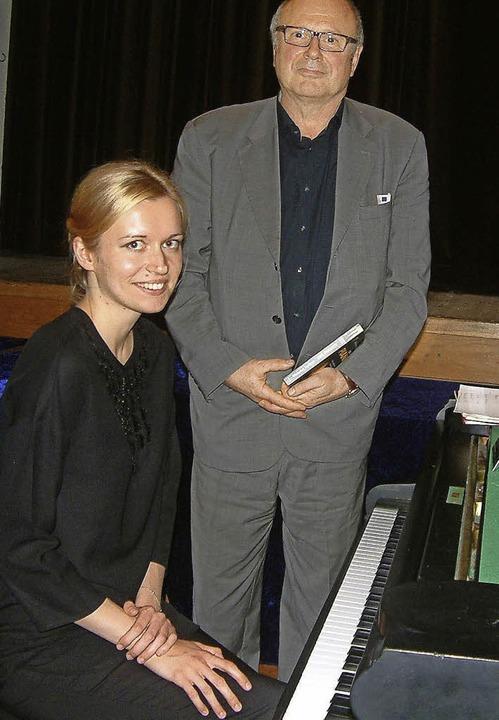 Die junge ukrainische Pianistin Kateryna Tereshchenko  und  Andrzej Szpilman   | Foto: Roswitha FREY