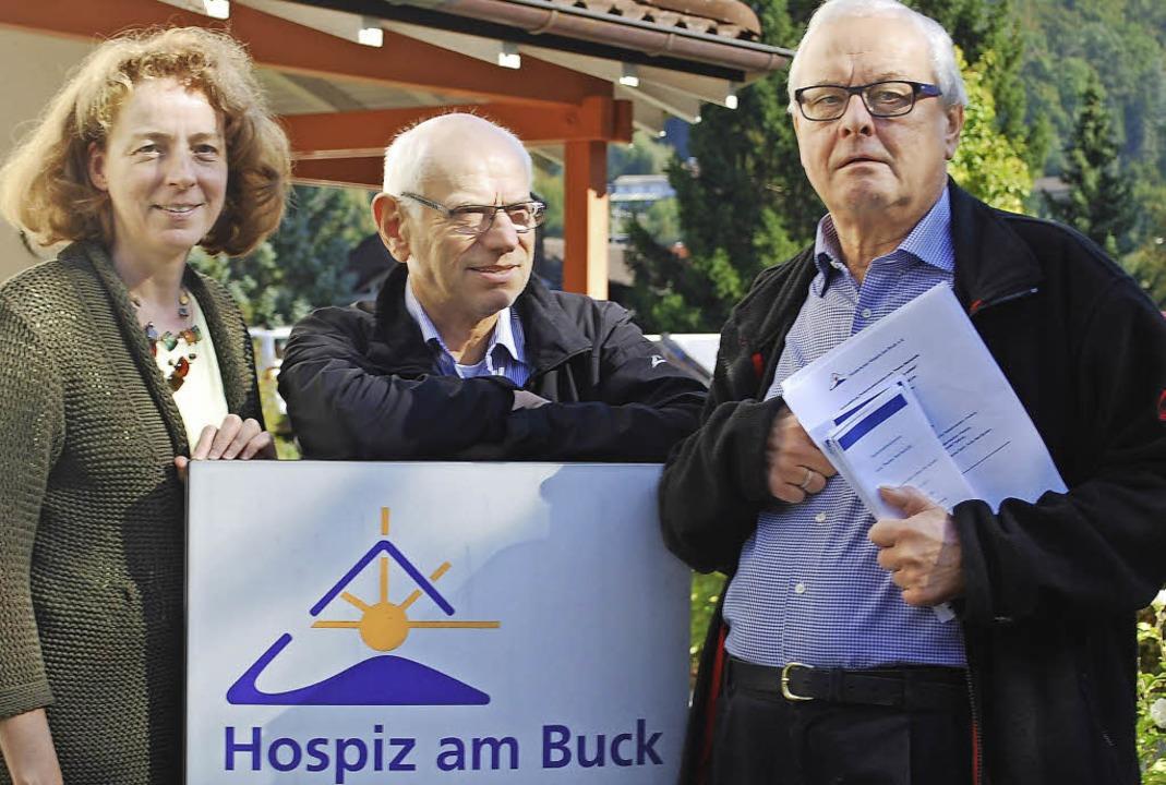 Tilly Nothhelfer, Bernhard Späth und Peter Ade (rechts)   | Foto: Thomas Loisl Mink