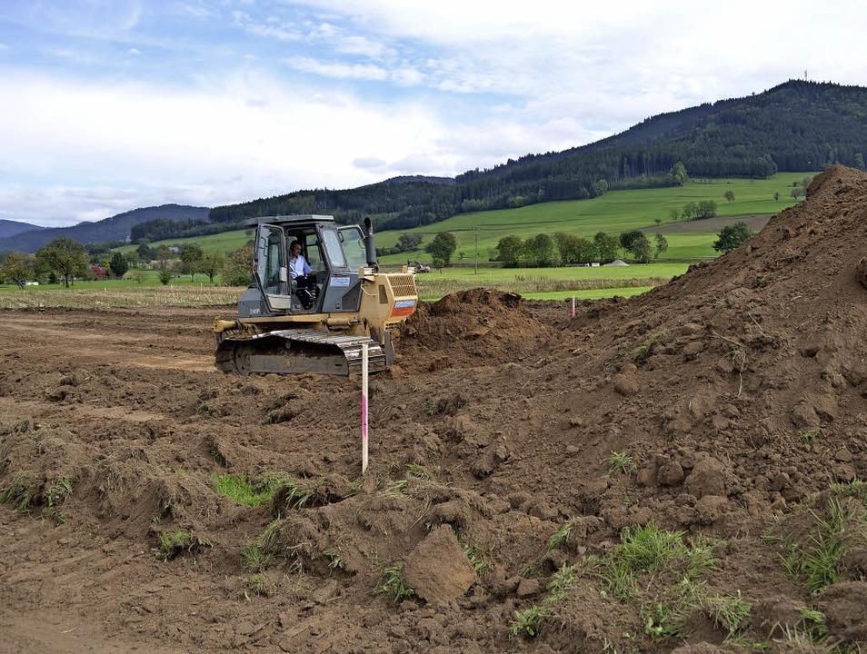 Baustelleneinrichtung: Unterhalb von N...ür die Ortsumfahrung Winden begonnen.   | Foto: Nikolaus Bayer