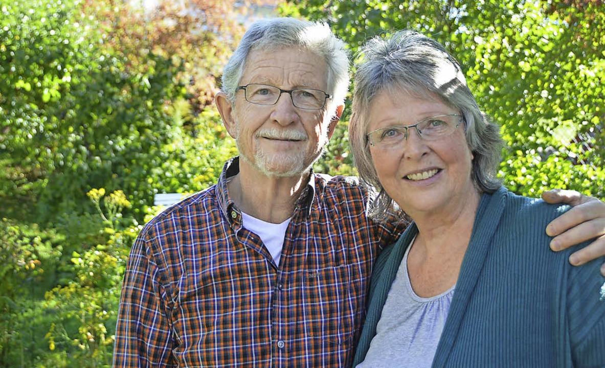 Werner und Maria Waßmer, die beiden In...s Löffinger Flüchtlingshelferkreises.   | Foto: Martin Wunderle