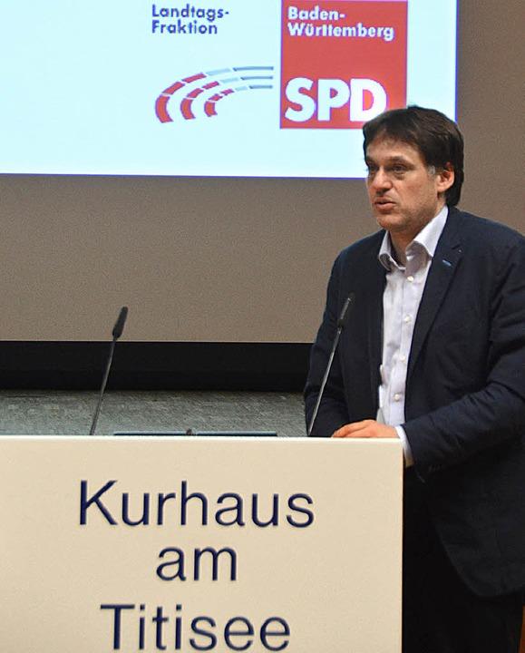 Johannes Stober, der energiepolitische Sprecher der SPD-Landtagsfraktion.   | Foto: S. Wolfrum