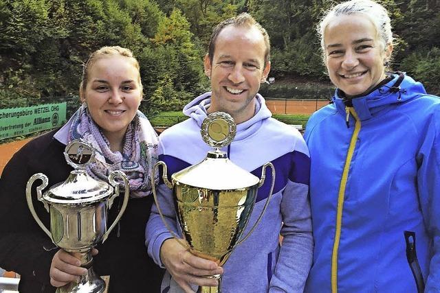 Tennis-Pokale gingen an die Favoriten