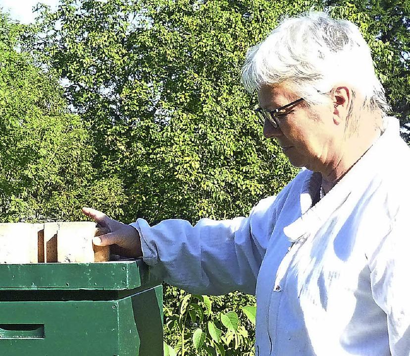 Ingrid Bär hat vier Bienenvölker auf dem Hof.  | Foto: Gabriele Rasenberger