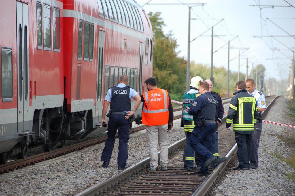 Unfall Bahnstrecke Freiburg Offenburg