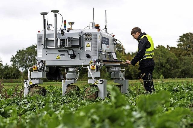 Ein Roboter soll den Bauern auf dem Acker helfen