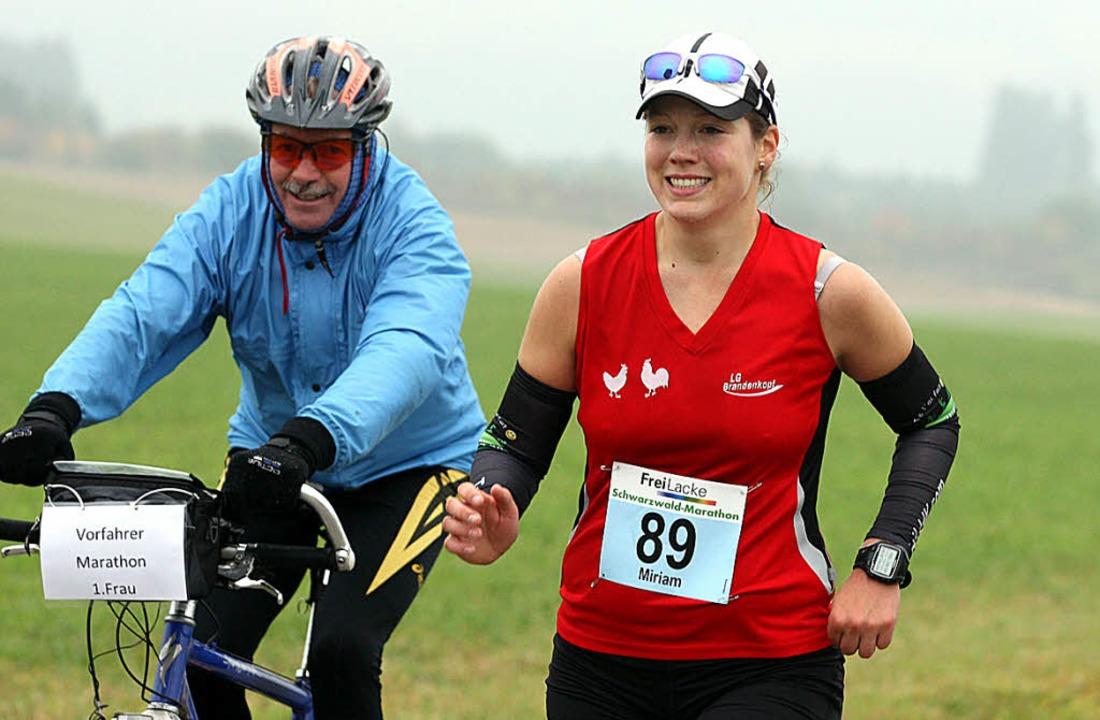 Um mit ihr mitzuhalten, brauchte es sc...nkopf gewann den Schwarzwald-Marathon.  | Foto: Dieter Reinhardt