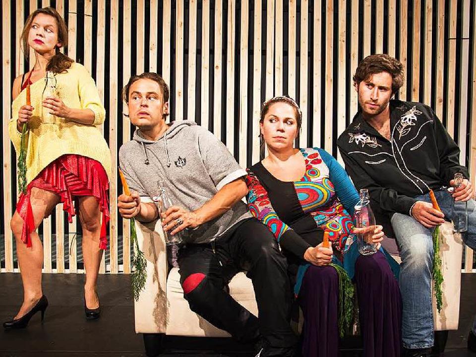 Wo ist der Fremde?: Elisabeth Kreßler,...tharina Rauenbusch,  Matthias Happach     Foto: Lauble