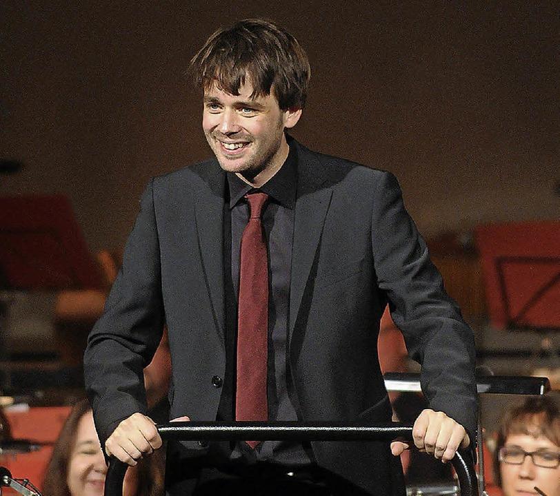 Der neue Dirigent Nicholas Reed  | Foto: WOLFGANG KUENSTLE