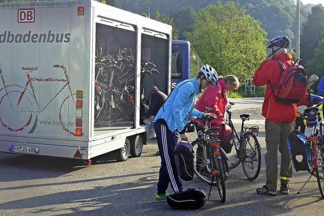 Fahrräder im Huckepack