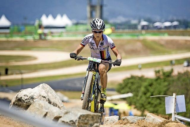 Adelheid Morath hat die MTB-Olympiastrecke getestet