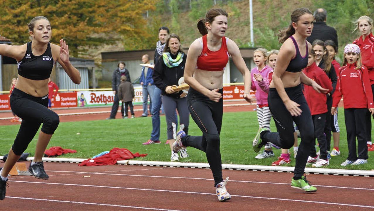 Im 75-Meter-Lauf hieß es, schnell aus ...dion bei der Stadtmeisterschaft dazu.   | Foto: Gerd Leutenecker