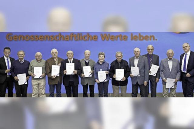Volksbank Lahr dankt ihren langjährigen Mitgliedern