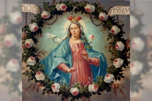 Mit sieben Bildern wird Maria hymnisch beschrieben
