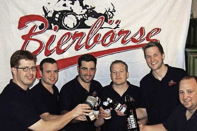 Bei der Bierbörse in St.Peter stehen mehr als 100 Biere aus aller Welt zur Auswahl