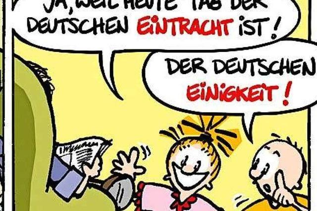 Lucy Backfisch: Tag der Eintracht, äh, Einheit