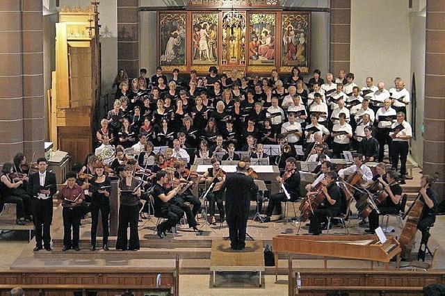 Der Kantatenchor Freiburg konzertiert in Kirchhofen und Freiburg
