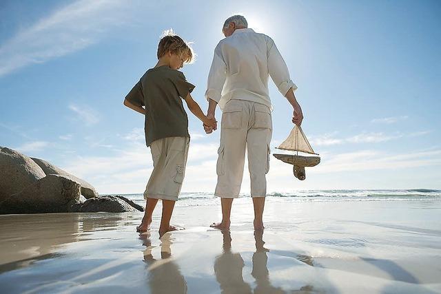 Wenn der Opa mit dem Enkel...
