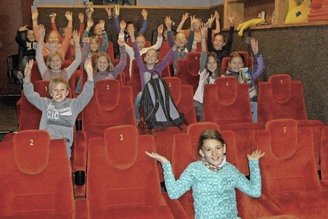 Ein ganzer Kinosaal allein für unsere Klasse