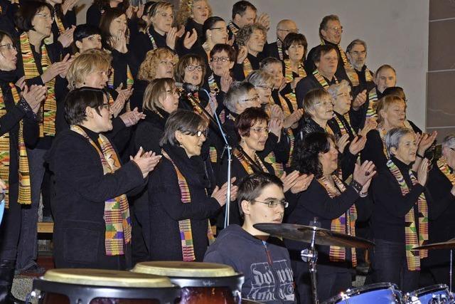 Gospelchor Swinging Spirit in der katholischen Kirche St. Laurentius