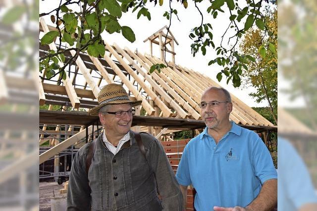 Scheune aus Bauholz - ein neuer Meilenstein für den Heimatverein Windenreute