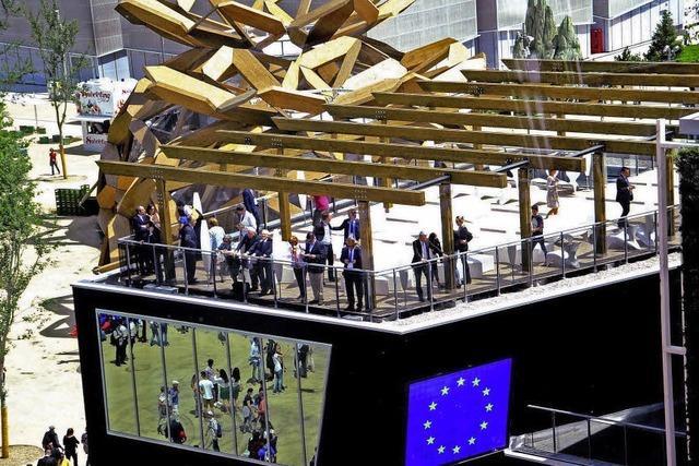 Für die EU auf der Expo im Einsatz