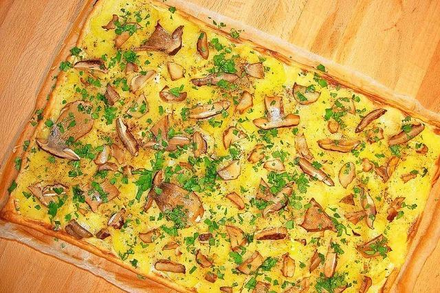 Herbst in der Küche: Pizza mit Steinpilzen