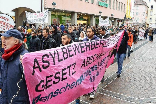 Demo in Freiburg gegen Abschiebung