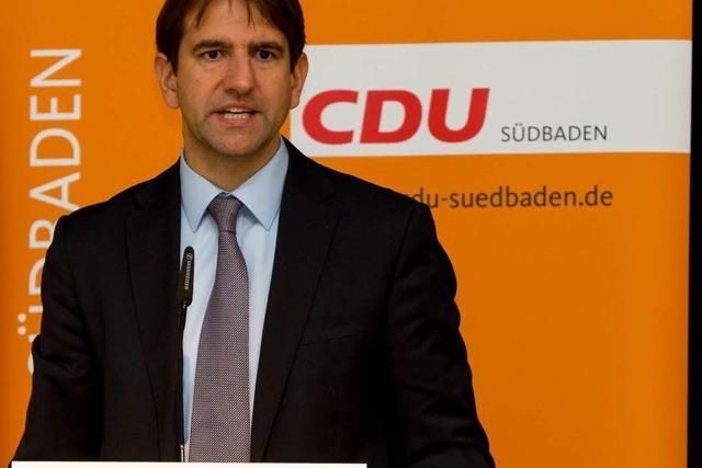 Andreas Jung bleibt Chef der CDU Südbaden