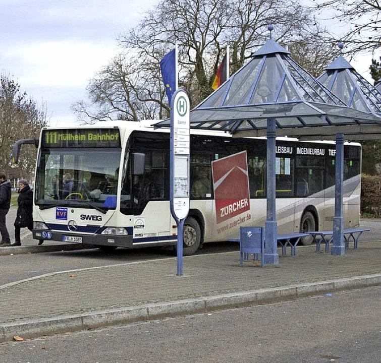 Die Linie 111 wird in den Abendstunden...ringer zum Müllheimer Bahnhof genutzt.  | Foto: Volker Münch