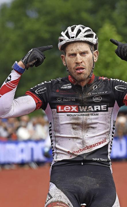 Der Marathonmann im Team Lexware: Matt... Schlussetappe der Trans-Schwarzwald.   | Foto: patrick seeger