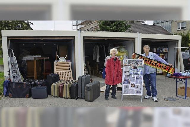 In drei Garagen mehr Platz für Hilfsgüter