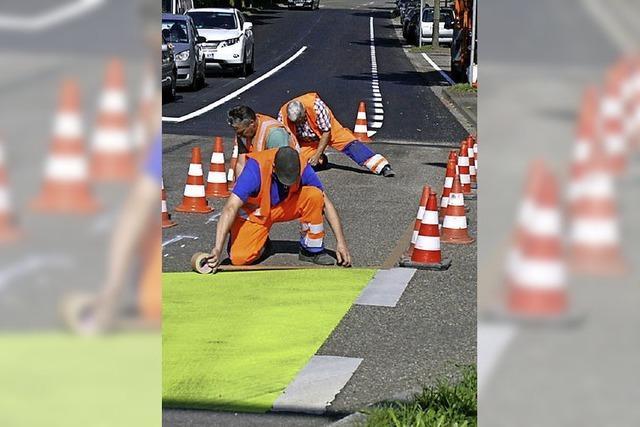 Die Radschutzstreifen bleiben weiter umstritten