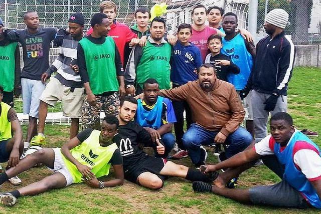 Kicken als Abwechslung für die Flüchtlinge