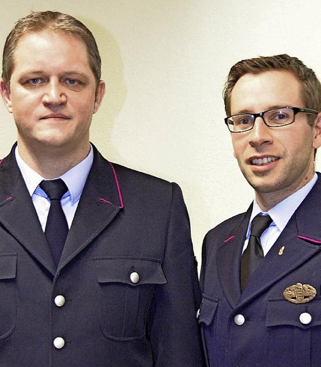 Der neue Standbrandmeister Frank Berch...t. Blasien, Clemens Huber (von links).  | Foto: Sebastian Barthmes