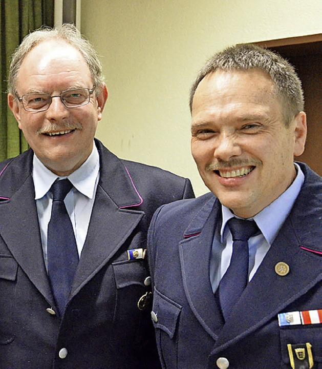 Neue Ehrenmitglieder sind Horst Blasi,... Ehlert und Clemens Huber (von links).  | Foto: Sebastian Barthmes