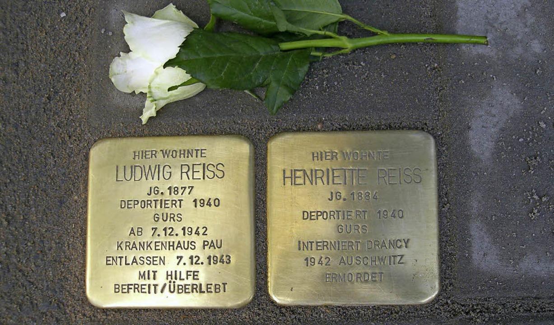 Ludwig Reiss und seine Frau Henriette ...2. Oktober 1940, nach Gurs deportiert.  | Foto: Hans-Joachim Hirsch