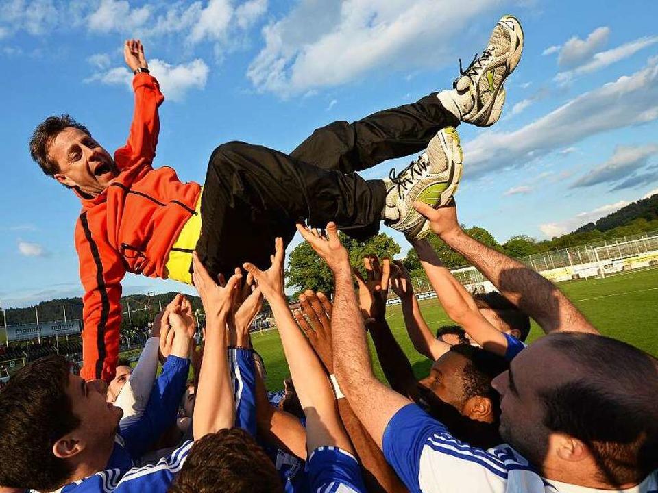 Einer der Höhepunkte:  Alexander Fisch...eger und zieht in den  DFB-Pokal ein.   | Foto: Seeger
