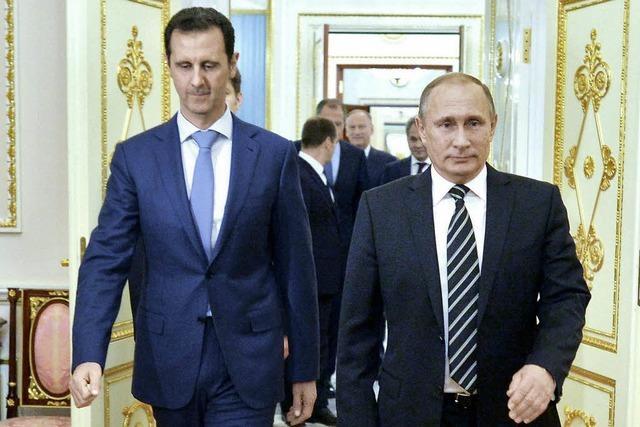 Putin empfängt den syrischen Präsidenten