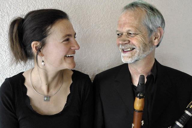 David Glenn (Klarinette) und Sylke Mehnert (Klavier) in der Kulturscheune